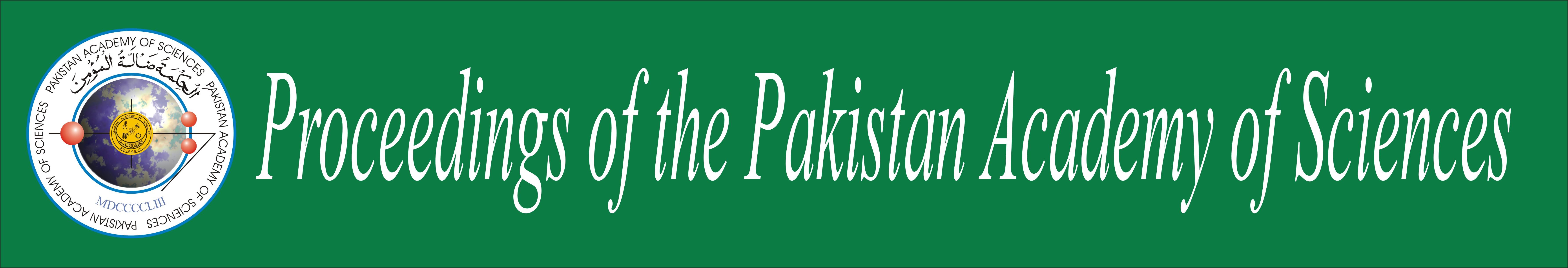 Proceedings of the Pakistan Academy of Sciences